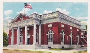 Exterior View, American Flag, The United States Post Office, Lebanon, Pennsyl...