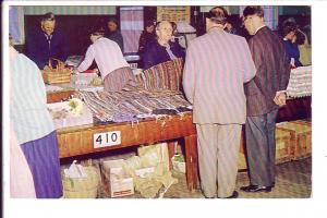 Mennonite Woman Selling Hand Woven Scatter Rugs, Kitchener, Ontario,