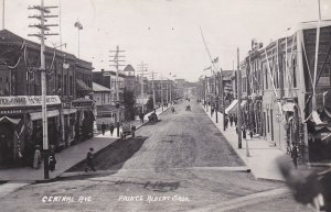 RP: PRINCE ALBERT , Saskatchewan , Canada , PU-1912 ; Central Avenue (dirt)