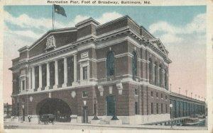 BALTIMORE, Maryland, 1900-1910s ; Recreation Pier