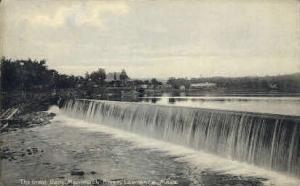 The Great Dam, Merrimack River Lawrence MA unused