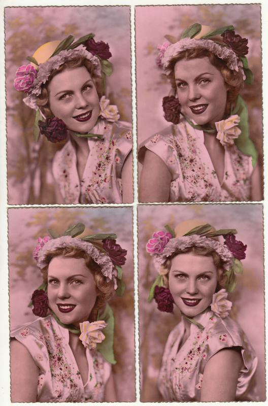 Fancy Lady Beauty Woman Flowers Head Decoration Coiffure Dress Nice