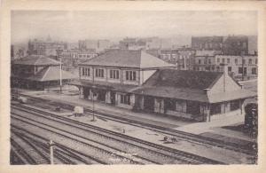 C. P. R. Train Depot, Railroad Tracks, North Bay, Ontario, Canada, 1910s