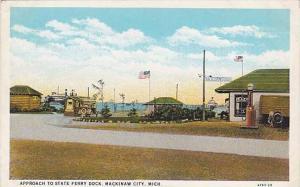 Approach to State Ferry Dock, Mackinaw City,Michigan, 00-10s