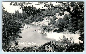 RPPC  REDWOOD HIGHWAY, CA ~ EEL RIVER View   c1940s  Art Ray Postcard