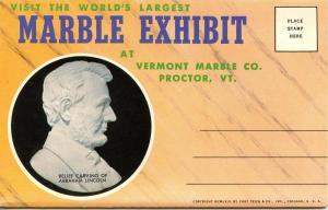 Folder -  Vermont, Proctor. Marble Exhibit (11 views + covers + narrative)