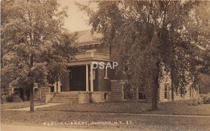 A31/ Almond New York NY Real Photo RPPC Postcard c1910 Public Library Building