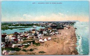 Nome, Alaska Postcard BIRDSEYE VIEW Mitchell c1910s Unused