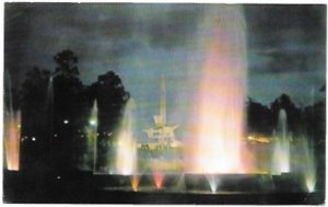 Guatemala. Luminous Fountain at the Industrial Park. Overprint stamp.  1962