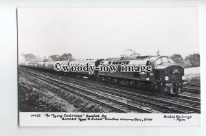 ry1313 - British Railways Diesel Engine - D201 - Flying Scotman - postcard