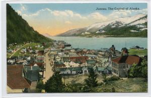 Panorama Juneau Alaska 1910c postcard