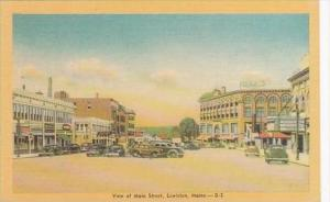 Maine Lewiston View Of Main Street
