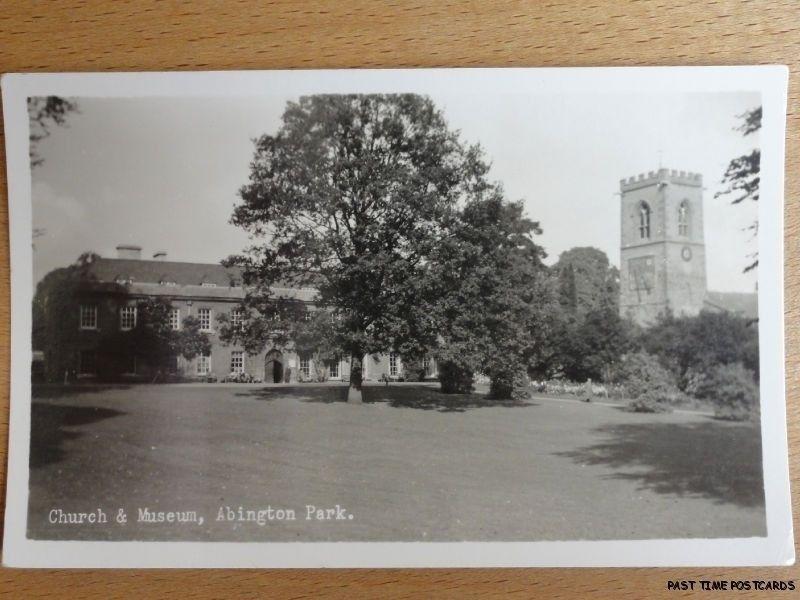 c1950's RPPC - Church & Museum - Abington Park