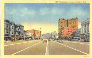 Washington Avenue Ogden Utah UT, 1953 Linen