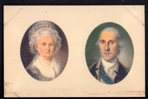 Miniature Portraits of GEORGE AND MARTHA WASHINGTON in The Mount Vernon Mansion