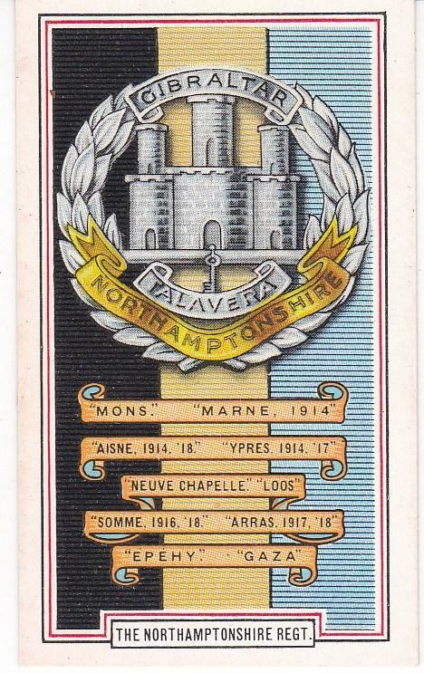 Cigarette Cards Gallaher ARMY BADGES No 38 The Northamptonshire Regiment
