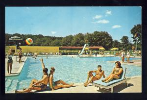 Lebanon, Connecticut/CT/Conn Postcard, Grand Lake Lodge, Swimming Pool