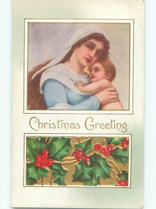 Divided-Back RELIGIOUS CHRISTMAS SCENE Nice Postcard W8466