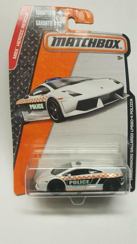 Matchbox Toy Car #61 Lamborghini Gallardo LP560-4 Polizia