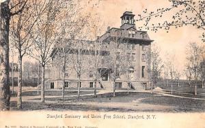Stamford Seminary & Union Free School New York Postcard