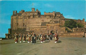 Highland Pipers on parade at Edinburgh castle postcard