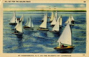NY - Ogdensburg. Sailing Race on the St. Lawrence River