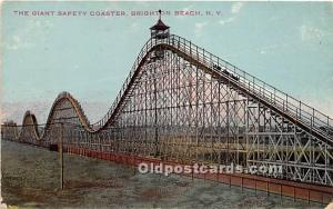 Brighton Beach, New York, NY, USA Postcard The Giant Safety Coaster 1912
