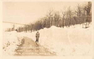 Frostburg Maryland Little Savage Mt Snow Real Photo Antique Postcard K80489