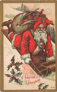 Santa Claus Postcard Old Vintage Christmas Post Card Unused