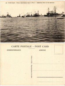 CPA EGYPT Port-Said, Flotte Américaine dans le Port (421615)