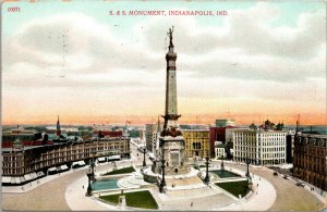 1920s SOLDIERS AND SAILORS MONUMENT INDIANAPOLIS IND POSTCARD SS