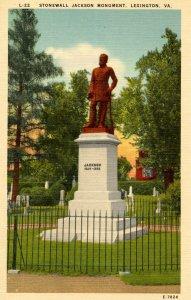 VA - Lexington. Stonewall Jackson Confederate Monument