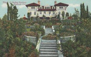 REDLANDS, California, 1900-10s; The E. C. Sterling Residence