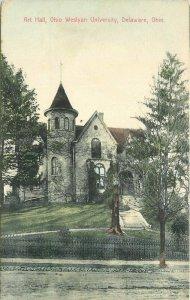 Art Hall Ohio Weslyan University Delaware Ohio 1909 Postcard New York 21-2396