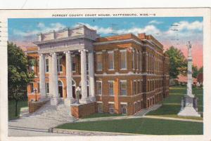 HATTIESBURG , Mississippi , PU-1940; Forrest County Court House