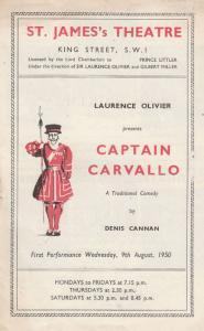 Captain Carvallo Diana Wynward Drama London St James Theatre Programme