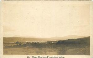1924 Mount Blue Farmingham Maine RPPC real photo postcard 8747
