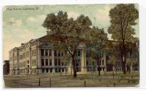 High School, Galesburg, Illinois, PU-1910