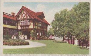 Michigan Battle Creek Porte Cochere Entrance Administration Building Postum C...