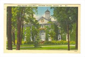 West College (Old West), Dickinson College, Carlisle, Pennsylvania, PU-1950