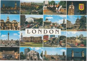 LONDON, multi view, unused Postcard