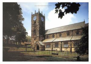 BR76239 the parish church of st michael and all angels haworth    uk