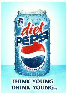 Lot 4 Diet Pepsi Advertising 4x 6 Postcard Think Young Drink Young Cola Ad