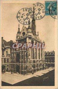 Old Postcard PARIS strolling La Sainte Chapelle