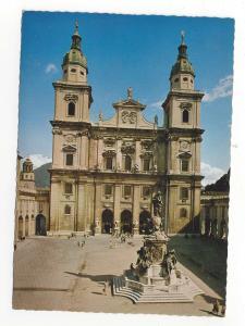 Austria Salzburg Cathedral Square Statue of Virgin Mary Der Dom Vtg 4X6 Postcard