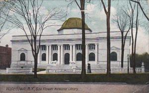 New York Watertown Governor Flower Memorial Library 1908