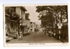 147440 Sierra Leone FREETOWN Garrison street Vintage postcard