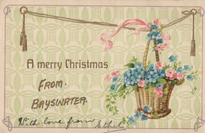 Christmas Greetings From Bayswater London Antique Postcard