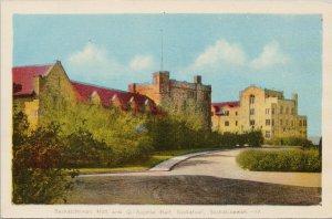 Saskatchewan Hall & Qu'Appelle Hall Saskatoon SK PECO Postcard G49