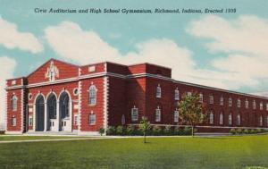 Indiana Richmond Civic Auditorium & High School Gymnasium Curteich